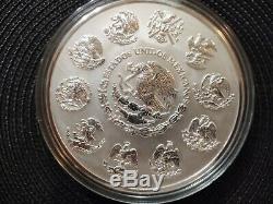 2008 Calendrier Aztèque 0,999 Argent Kilo B. U. $ 100 Coin Capsule En Plastique