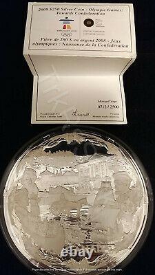 2008 Canada 250 $ Argent Kilo Pièce De Monnaie 2010 Jeux Olympiques Vers La Confédération