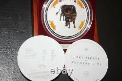 2009/07 Australie Lunar I Ox 1kilo Diamond Eye 999silver Pièce De Collection $30 Rare