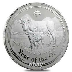 2009 Année De La Pièce Ox Australia Kilo 32,15 Oz. 999 Argent