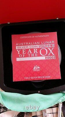 2009 Australie 1 Kilo D'argent Année De La Preuve Ox (série Ii)