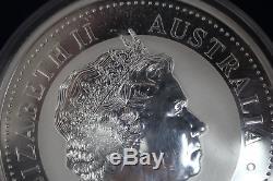 2009 Australie 30 $ 1 Kilo. 999 Ronde En Argent Fin Kookaburra Capsule En Plastique
