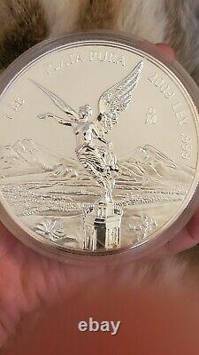 2009 Mexique Preuve Ley 1 Kg. 999 Plata Pura Mexicain Kilo Libertad Silver Coin