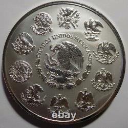 2009-mo Mexique Libertad 1 Kilo. 999 Fine Argent Superbe Gem Proof Like Coin Nice