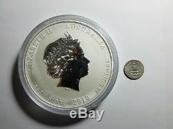 2010 1 Kilo Argent Année Du Tigre Coin. 999 1 Kg, 32 Oz, Perth Mint Lunar