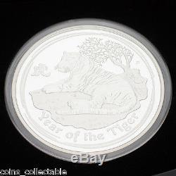 2010 Année De Tiger Kilo Argent 1 KG Proof Série Lunar Australia II 2