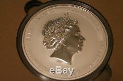 2010 Australie Année Du Tigre Kilo Coin 32,15 Oz 999 En Argent Fin Lunaire Perth