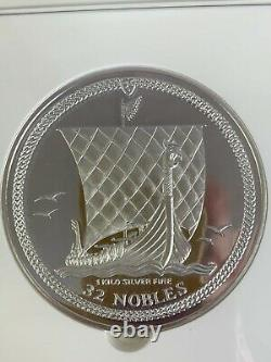 2010 Isle Of Man S32n #022/500 Pf69 Ultra Cameo Ngc 1 Kilo D'argent Fin