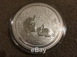 2011 1 Kilo Argent Année Lunaire Du Lapin Bu Australie Perth Mint Capsule
