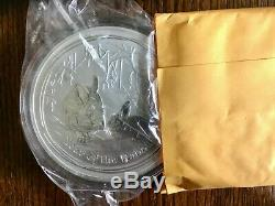 2011 1 Kilo Argent Lunaire Année De Lapin Bu Australie Perth Mint En Cap