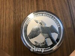 2011 Australian Argent Kookaburra 1 Kilo 2 Livres 32,15 Onces Mint Avec Capsule