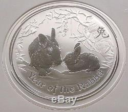 2011 Australie 1 Kilo Silver Coin $ 30 Ans Du Lapin Perth Mint Ngc Ms69