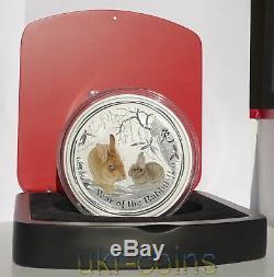 2011 Australie $ 30 Lunar II Année Du Lapin 1 Kilo Silver Coin Gemstone Eye