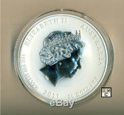 2011 Australie Année Du Lapin 1 Kilo $ 30,999 Pièce En Argent Fin (ooak)
