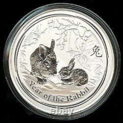 2011 Australie Kilo Argent Lunar Rabbit Pièce
