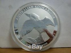 2011 Australie Kookaburra 1 Kilo $ 30,999 Pièce En Argent Fin