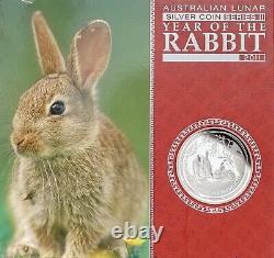 2011 Australien $30 Lunar II Year Of The Rabbit1 Kilo Silver Proof Coin