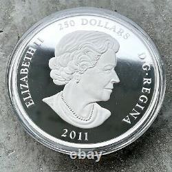 2011 Kilo Canada. 99999 Pièce D'argent Fin 250 $ Feuille D'érable Pas D'aco