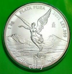 2011 Libertad Argent 1 Kilo! Bu Mexique. 999 Plata Pura