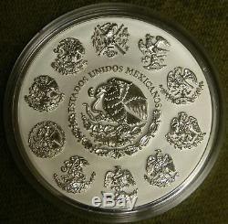 2011 Mexique 1 Kilo Argent 100 Pesos Calendrier Aztèque Pl 1500 Mintage