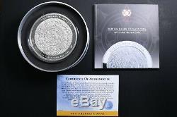 2011 Mexique 1 Kilo Argent Calendrier Aztèque Coin Withbox Et Coa Sku # 182427