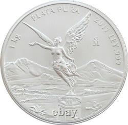 2011 Mexique Ange De Libertad Solide. 999 Kilo Silver Bullion Coin