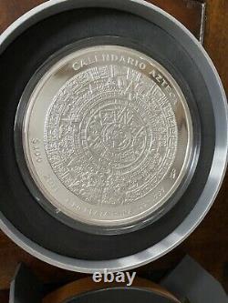 2011 Mexique Azteca 100 Pesos 1 Kilo 32.15 Oz Preuve Comme Argent Coin Box Coa