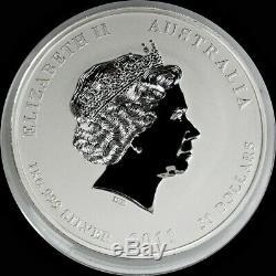 2011 P Argent Australie $ 30 Année Lunaire Du Lapin Kilo Coin Capsule