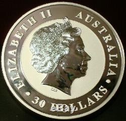 2011 $ Sur 30 1 Kilo Australian Kookaburra Silver Coin