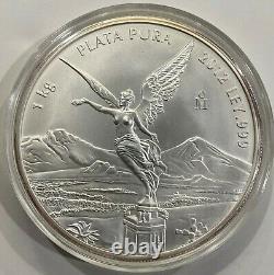 2012 1 Kilo Argent Mexique Libertad Omp (rare 2300 Mintage)