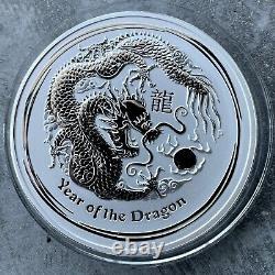 2012 Année Du Dragon Australie Kilo Pièce 32.15 Oz. 999 Argent