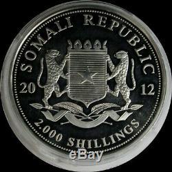 2012 Argent Somalie Kilo 32.15ozs 2000 Shillings Africaine De La Faune Dragon Privy