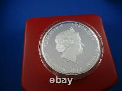 2012 Australian Lunar Series II Année Du Dragon 1 Kilo Silver Proof Coin