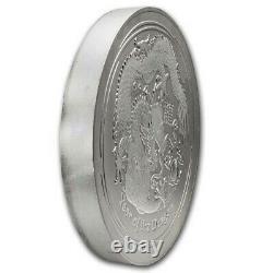 2012 Australie 10 Kilo Année D'argent Du Dragon Bu (abrasions) Sku#231606