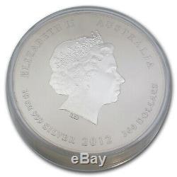 2012 Australie 10 Kilos D'argent Année Du Dragon Bu (321,5 Oz) Sku # 63850