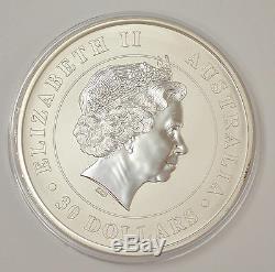 2012 Australie $ 30 Koala 1 Kilo. 999 Silver Coin