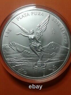 2012 Mexique 1 Kilo D'argent Libertad Bu (capsule)