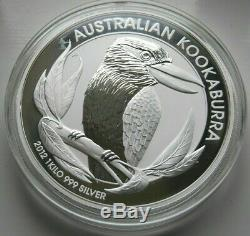 2012 Perth Mint Australie Kookaburra 1 Kilo (32,15 Oz. 999 Argent) Preuve