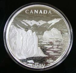 2013 250 $ 1 Kilo 99,99% Pure Arctic Paysage Canadien Pièce Du Canada Argent