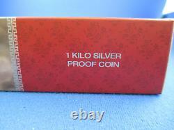 2013 Australian Lunar Series II Year Of The Snake 1 Kilo Silver Proof Coin