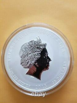 2013 Australian Year Of The Snake 1 Kilo Argent $30 Coin Bu