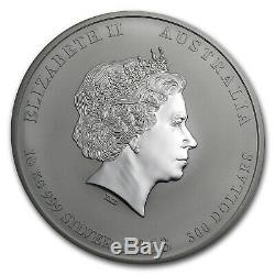2013 Australie 10 Kilo D'argent Année De La Bu Serpent (321,5 Oz) Sku # 71376