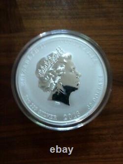 2013 Australie Année Lunaire Du Serpent 1 Kilo Argent Colorisé Coin