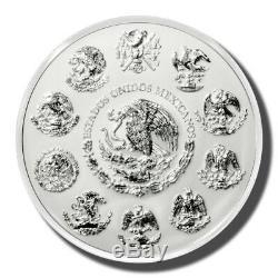 2013 Mexique 1 Kilo 100 Pesos Calendrier Aztèque Prooflike Silver Coin