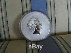 2014 1 Kilo Argent Année Lunaire Du Cheval Bu Australie Perth Mint Capsule