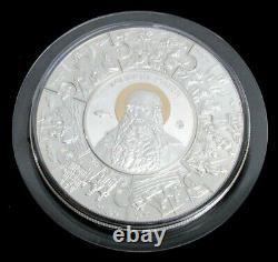 2014 Argent Liberia Proof Kilo 1000 Grammes KG Puzzle Saint James Coin Apôtre Box