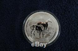 2014 Australien Année Du Cheval $ 30 Dollars 1 Kilo. 999 Silver