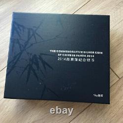 2014 Chine 1 Kilo KG Argent Panda 300 Yuan Monnaie Condition (boîte/coa)