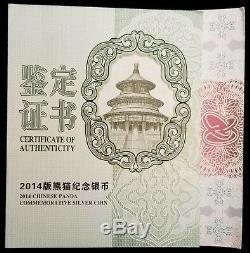 2014 Chine 1 Kilogramme Kilo Silver Proof Panda 300 Yuan Ngc Pf70 Ultra Cameo Coa