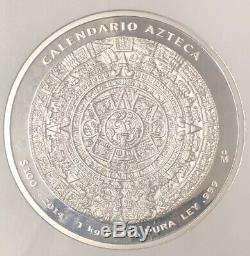 2014 Mo Mexique 1kilo S100p Calendrier Aztèque Pl 69 Ngc Nh001
